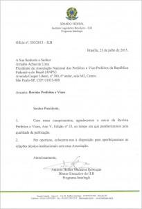 Ofício Instituto Legislativo Brasileiro
