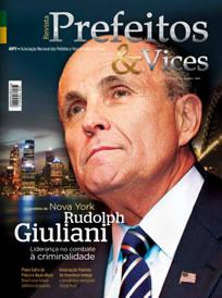 Giuliani foi capa da Revista Prefeitos & Vices edição 21.