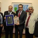 Deputado professor Sétimo, Dr. Arnaldo Acbas de Lima e os Prefeitos do Rio Grande do Norte entregam Comenda